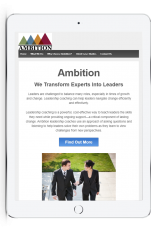ambition ipad website - before