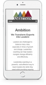 ambition website- before