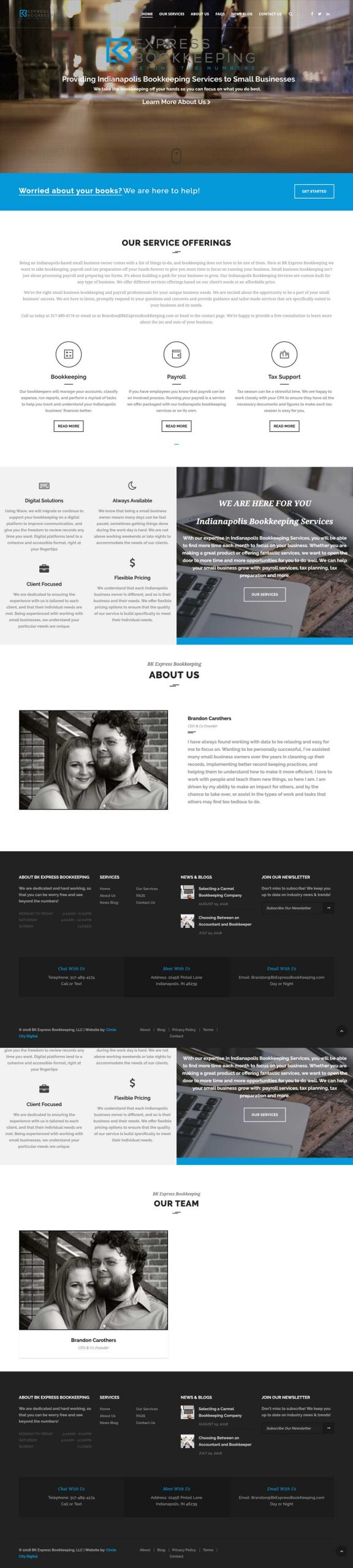BK Express Bookkeeping Website Design