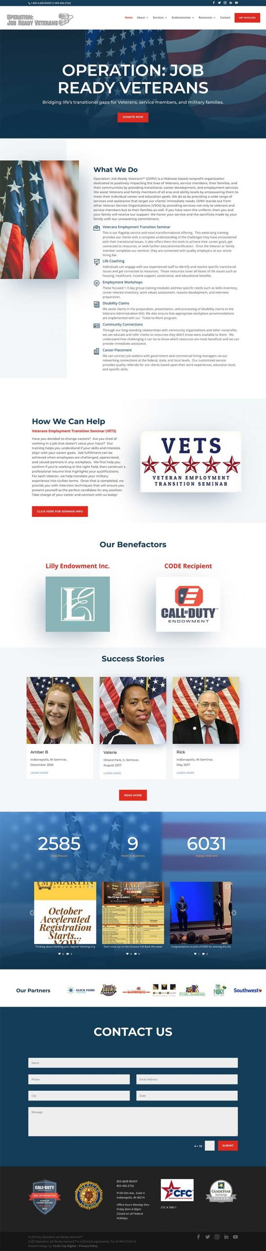 Operation: Job Ready Vets Non-Profit Website