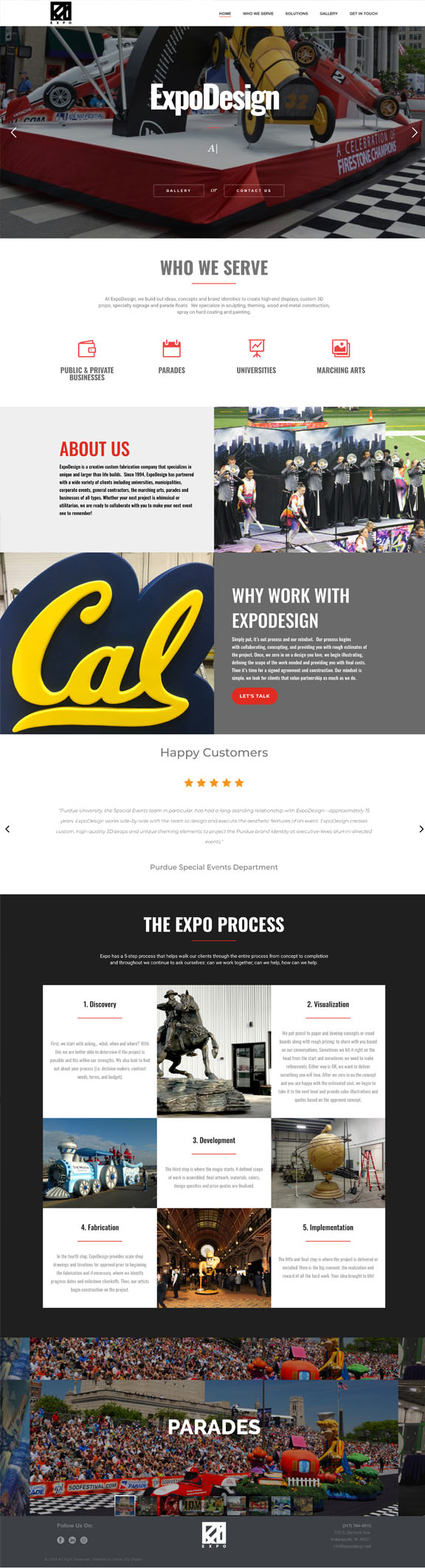expo design website