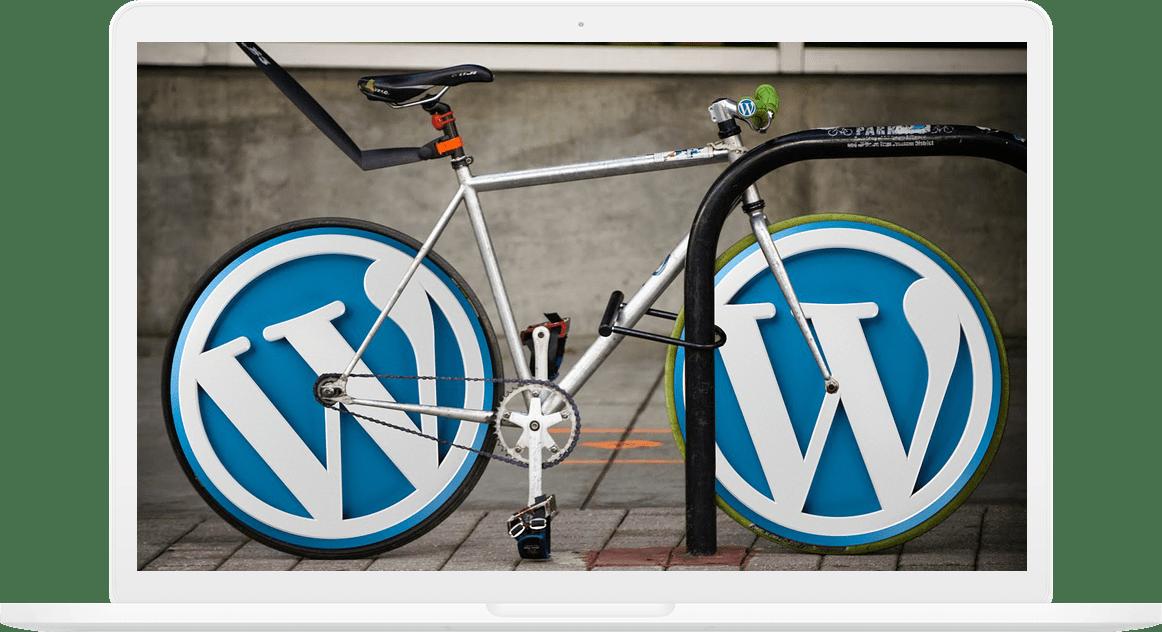 wordpress website on computer
